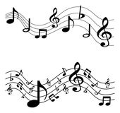 Music notes. Simple illustration of music notes on white background Royalty Free Stock Photos