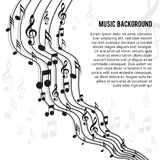 Music notes. On a solide white background vector illustration