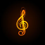 Music notes on a solide white background Royalty Free Stock Photography