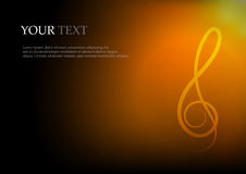 Music notes and space for text background Stock Photography