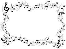 Music notes square frame background. Isolated music notes square frame with copy space from white background stock illustration
