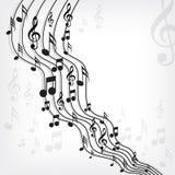 Music notes. On stave - illustration royalty free illustration