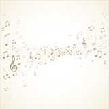 Music notes on stave Royalty Free Stock Images
