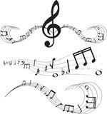 Music notes on staves Stock Image