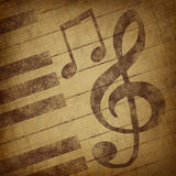 Music notes symbol grunge vintage Royalty Free Stock Image
