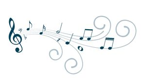 Music notes. A symbol with stylized music notes Stock Photos