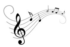 Music notes. A symbol with stylized music notes.nn royalty free illustration