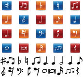 Music Notes and Symbols. Icon collection Royalty Free Stock Photo