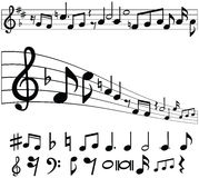 Music Notes and Symbols. Collection Stock Photos