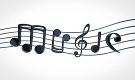 Music notes. Text on white background Stock Photos