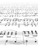 Music Notes Texture Stock Images