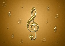 Music notes textured background wallpaper. For text and design work royalty free stock photos