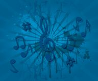 Music notes theme background Royalty Free Stock Photo