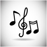 Music Notes Treble Clef Set Web Icon Royalty Free Stock Images