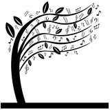 Music notes tree Stock Photography