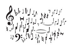Music Notes (vector) Royalty Free Stock Photos