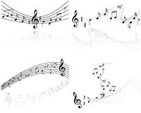 Music notes vector backgrounds. Music notes  backgrounds on white Royalty Free Stock Images