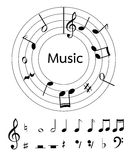 Music notes vector for decoration or other Royalty Free Stock Photos