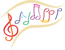 Music notes. Vector illustration of music notes royalty free illustration