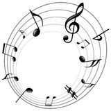 Music notes. Vector illustration of music notes Royalty Free Stock Photos