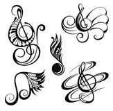 Music notes. Vector illustration royalty free illustration