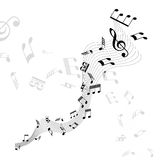 Music Notes. Vector illustration of music notes on a white background Stock Photos