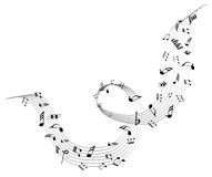 Music Notes. Vector illustration of music notes on a white background stock illustration