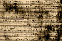Music Notes Vintage Paper Stock Photography