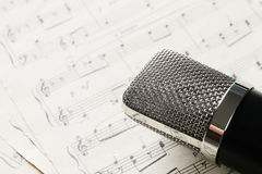 Music notes. Vintage. Music notes on the vintage paper stock photography