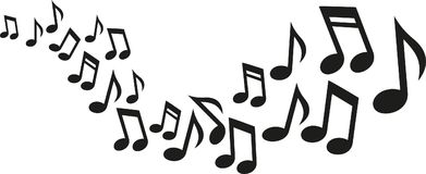 Music Notes Wave Royalty Free Stock Image