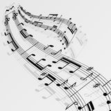 Music Notes Wave Background Royalty Free Stock Images