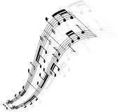 Music notes wave Royalty Free Stock Photo