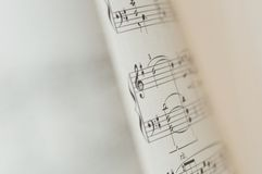 Music notes on white background Royalty Free Stock Images