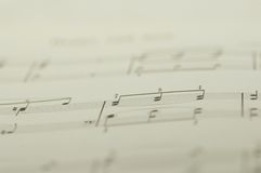 Music notes on white background Stock Photo