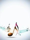 Music Notes White Background Stock Image
