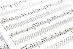 Music notes. On white paper sheet Royalty Free Stock Photography