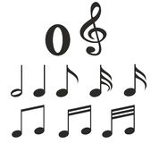 Music notes. On withe background Royalty Free Stock Image