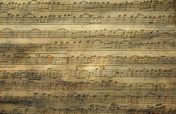 Music Notes Wooden Texture Stock Photo