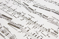 Music notes written as background Royalty Free Stock Images