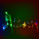 Music notesAn. An illustration of music notes stock illustration