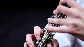 Music for oboe stock video