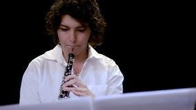 Music for oboe stock video footage