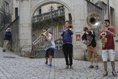 Music in the old streets Royalty Free Stock Image