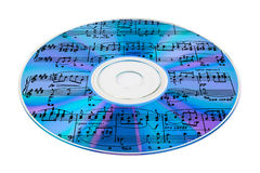 Music On Cd Royalty Free Stock Photo