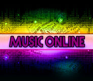 Music Online Means World Wide Web And Acoustic Stock Photography