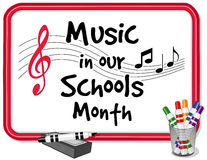 Music in Our Schools Month Whiteboard stock illustration