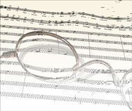 Music_outline Stock Image