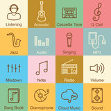 Music outline design Royalty Free Stock Photography