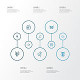 Music Outline Icons Set. Collection Of Orator, Template, Stringed And Other Elements. Also Includes Symbols Such As Stock Photos