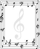 Music page border Stock Photography